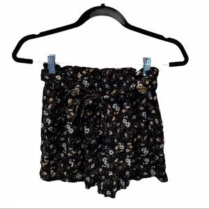 AE Floral Flowy Soft Shorts with Tie Belt